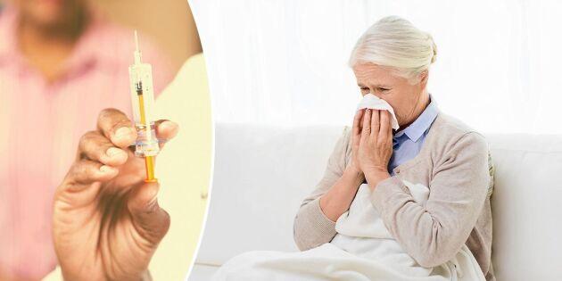 Ska du vaccineras? Kolla om du tillhör riskgrupperna för influensa