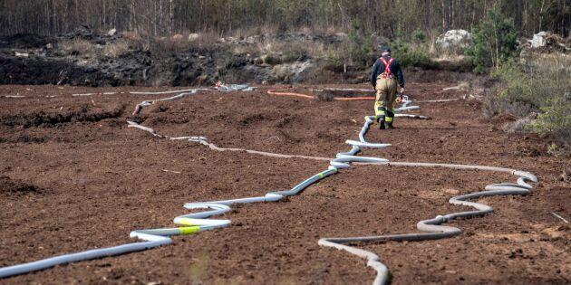 Risk för skogsbrand i nästan hela landet