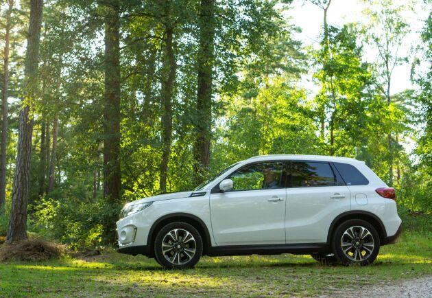 ATL provkör Suzuki Vitara Boosterjet Biogas Hybrid Allgrip 4x4.