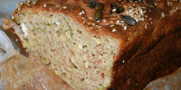 Saftig bröd med grönkål