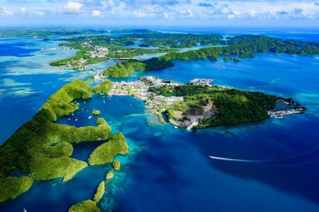 Önationen Palau i Stilla havet införde i fjol förbud mot att använda och försäljning av solkräm.