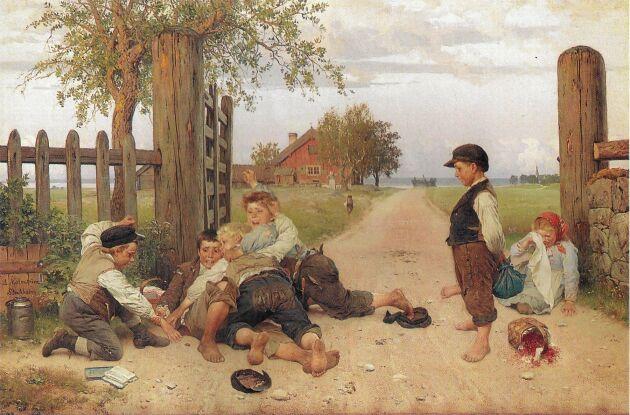 Grindslanten trycktes i hundratusentals reproduktioner och hängde i många hem i ett svunnet Sverige.