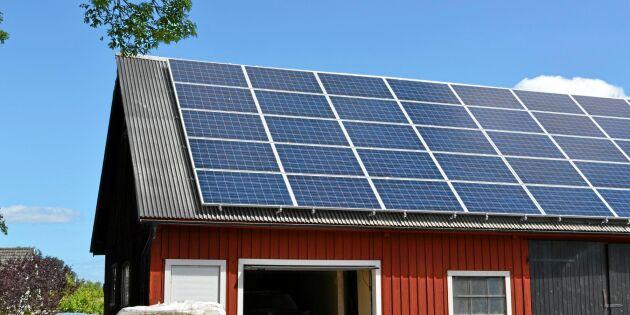 Brister vid solcellsinstallationer på lantbruk