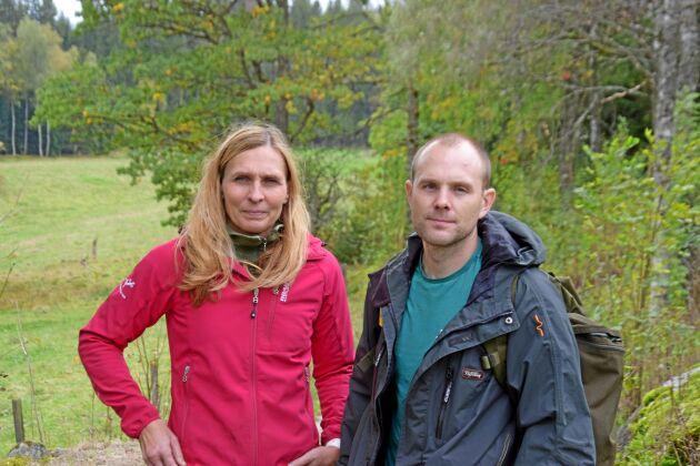 Anneli Virenheim och Olle Andréasson vill kunna bruka den skog som de köpte för fyra år sedan.