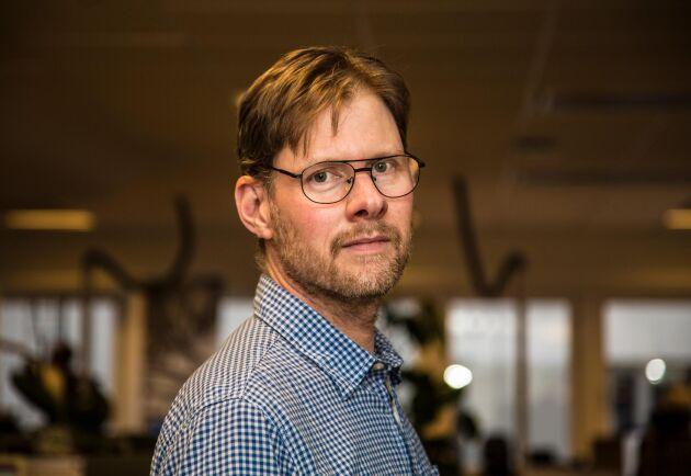 """""""Det stora problemet är att man har väldigt bråttom med allting. När det ska gå snabbt gör man gärna saker överilat"""", säger Anders Drottja, krisberedskapsansvarig LRF."""