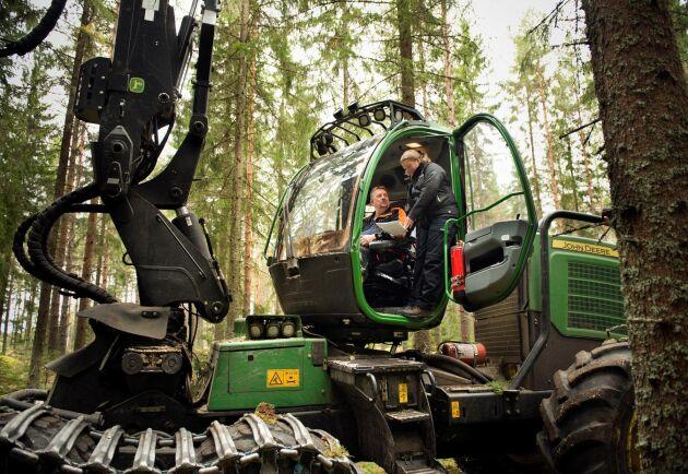 Genom att synliggöra skogliga värden som tidigare varit svåra att mäta, vill Sveaskog utveckla sitt arbete med att bedriva ett hållbart skogsbruk. (Bilden är tagen i ett tidigare sammanhang.)