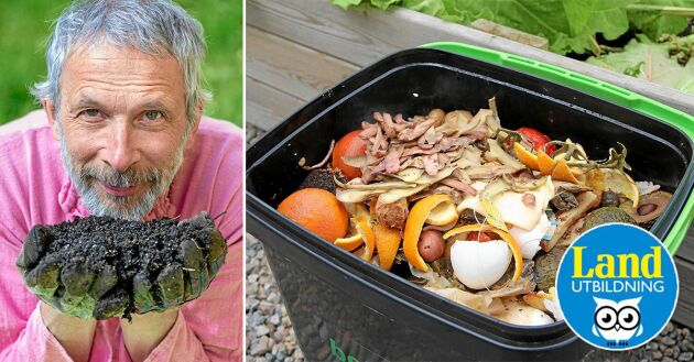 Peter Streijffert odlar det mesta av sin egen mat. Han hjälper dig att komma i gång med bokashi.