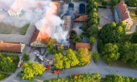 Brand på lantbruksuniversitet – man anhållen