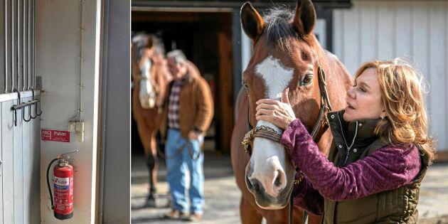 Säkrare stall: Så brandövar du med hästarna