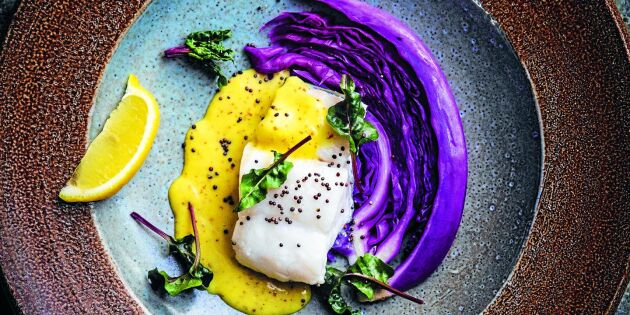 Bjud på dansk kalasmat – rimmad torskrygg med senapssås