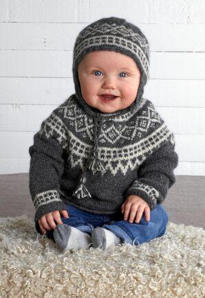 Det lena lama-ullet är mjukast möjliga för babyns nya plagg.