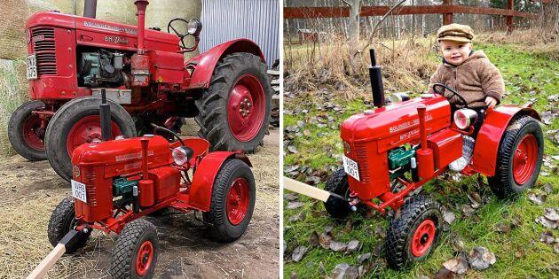 Walter fick en specialbyggd mini-traktor – exakt kopia!