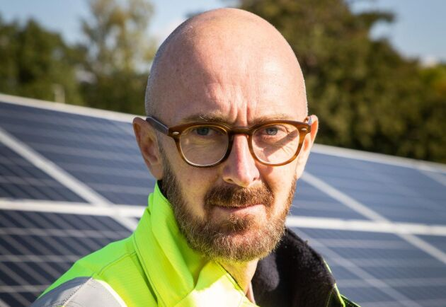 """""""Detta är ju egentligen ett alternativ till att köpa ursprungsgarantier. Istället kan man stötta en lokal satsning, och göra ett mera additivt bidrag till vår energimix"""", säger Jon Persson på Eon."""