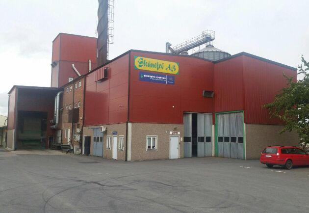 Anläggningen för Bioagro Energy där pellets av jordbrukets restprodukter tillverkas.