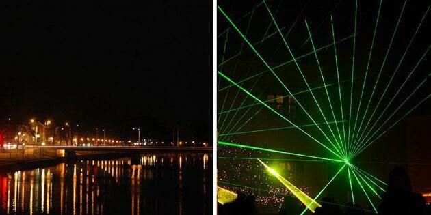 Här byts nyårsfyrverkerierna mot laserkanoner