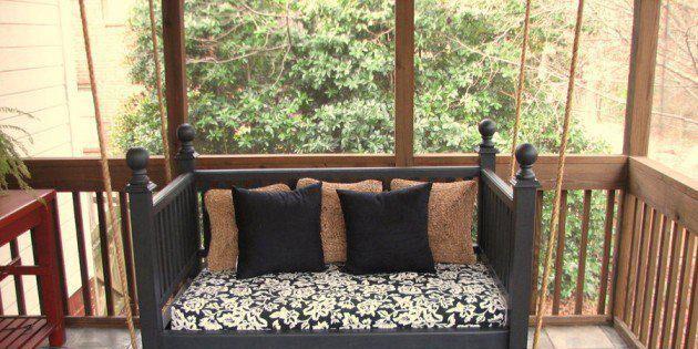 Skapa en snygg hammock av barnens gamla säng