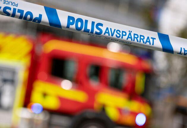 Det brinner på en grisgård utanför Skellefteå. Arkivbild.