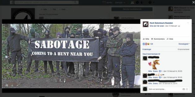 De saboterade rävjakten – och hotar med nya aktioner
