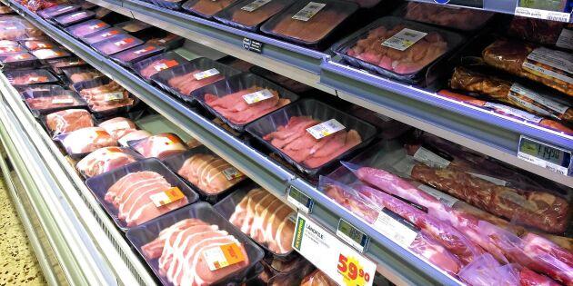 Importen från stora grisländerna minskar