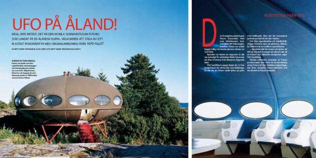 Sveriges märkligaste boende: Det världsunika Ufo-huset kan bli ditt