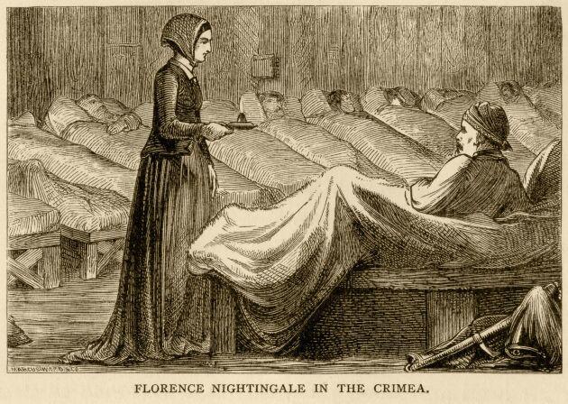 Florence Nightingale var en tuff madam som räddade livet på och vårdade skadade soldater under Krimkriget – dag som natt.