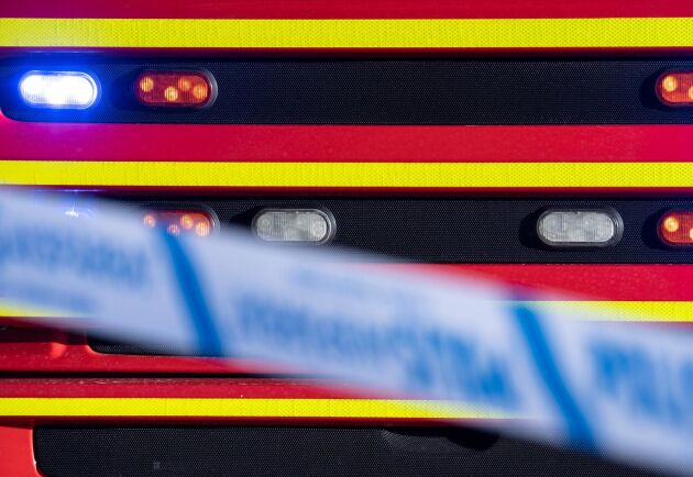 En stor byggnad började brinna utanför Linköping natten mot söndag. Arkivbild.