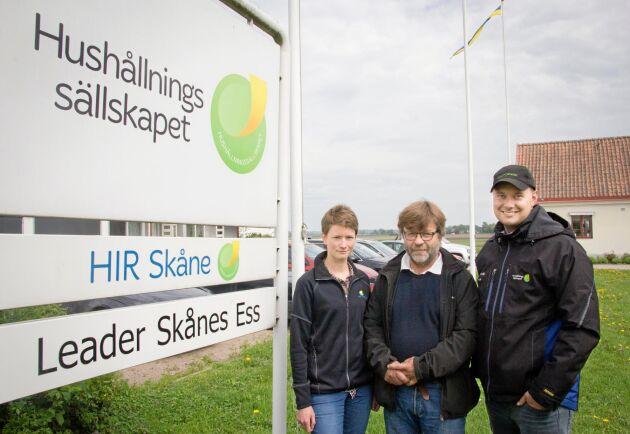 Ida Lindell, Stefan Lundmark och Kristoffer Gustafsson.