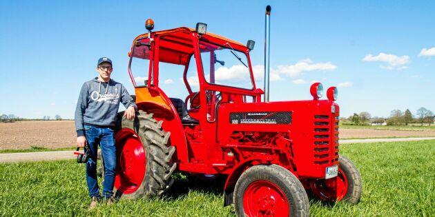 Så totalrenoverade Henrik pappas gamla traktor!