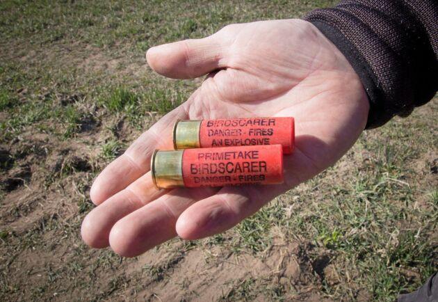Knallskott som kan användas i hagelgevär.