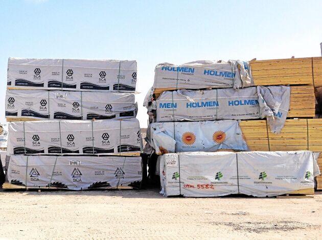 Marknaden för sågade trävaror håller på att mattas av.