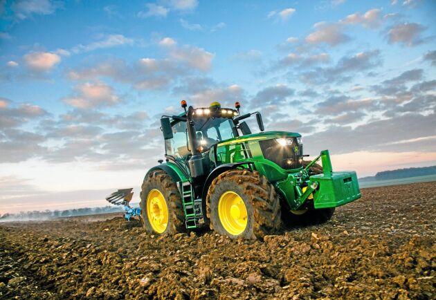 John Deere ligger trea på listan över mest sökta bland lantbruksmaskiner på Gotland.