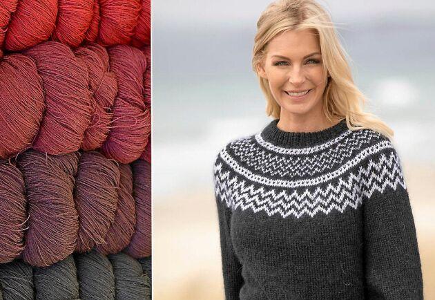 Varm och mjuk tröja håller kylan borta. Stickad i alpacka, silke och mohair.