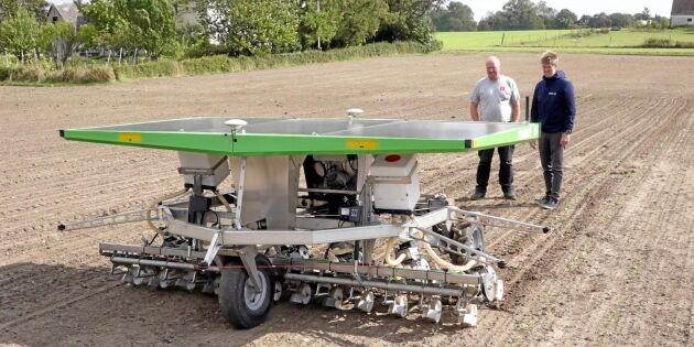 GPS visar vägen för roboten i fält