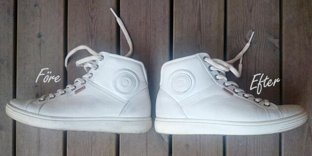 Sudda bort fläckarna från dina sneakers!
