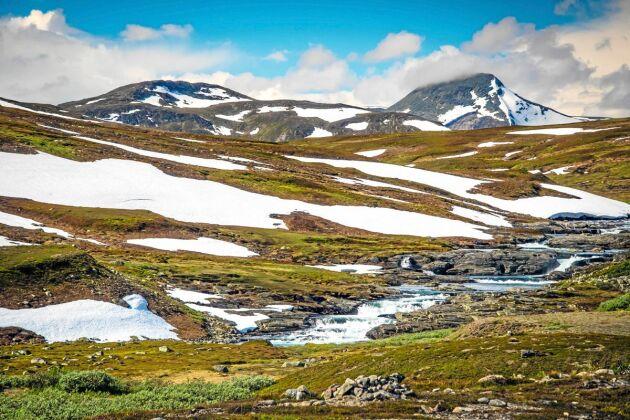 Under sommarhalvåret är det möjligt att lämna bilen och ge sig ut till fots i vildmarken.