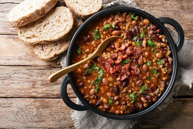 Den här härliga soppan går att variera på många olika sätt.