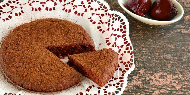 Saftig chokladkaka – på rödbetor