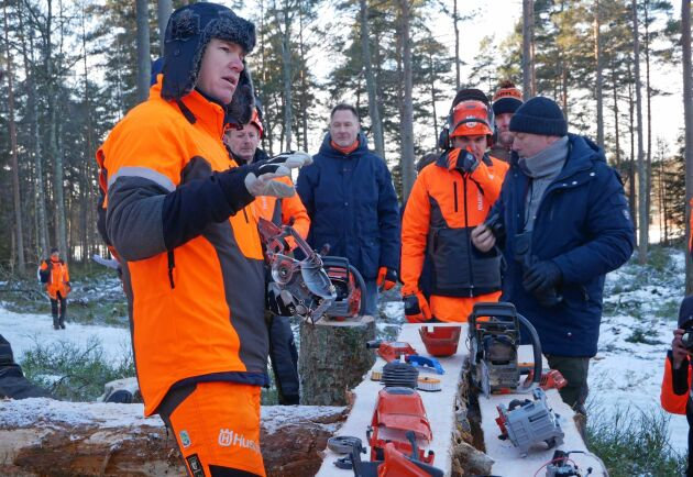 Anders Persmeen på Husqvarna har ansvarat för utvecklingen av de nya Mark II-sågarna som är omgjorde från grunden.