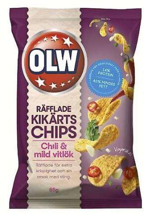 Chips gjorda av kikärtor.
