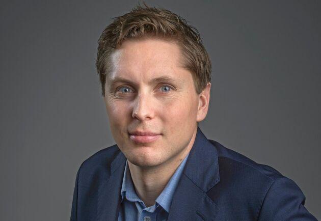 Johan Lindahl, talesperson för branschorganisationen Svensk solenergi.