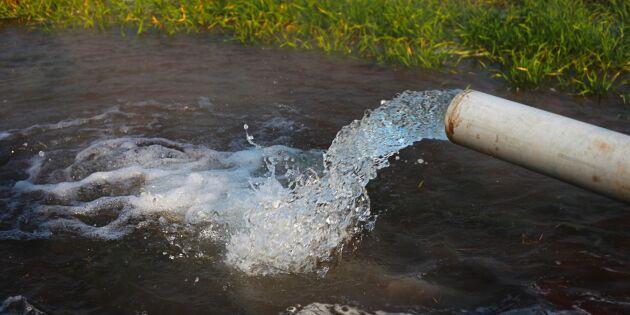 Krisläge för grundvattennivåer i landet