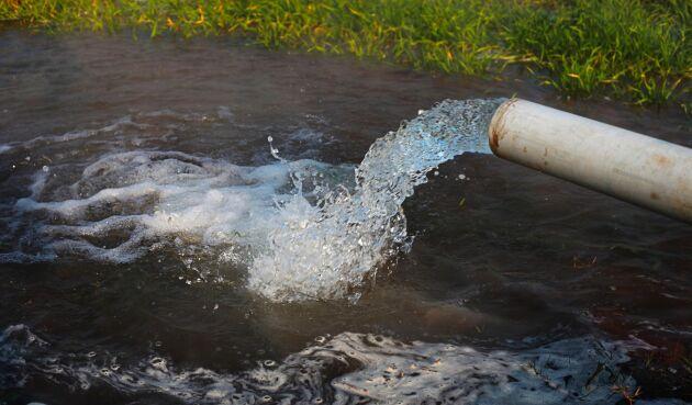 Krisläge för grundvattennivån.