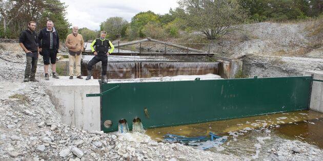 Nya dammluckor säkrar vatten till fälten