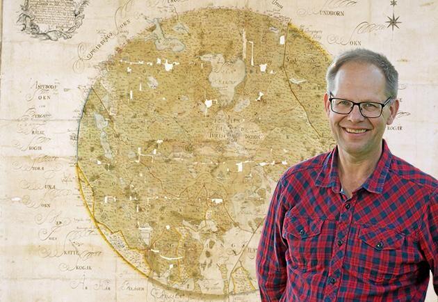 Lantmätaren Johan Brandbergs karta över fredsmilen från 1754. Arkivcentrum Dalarna, Kart- och ritningsarkivet: E-850.