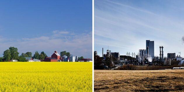 Prima jordbruksmark kan bli industriområde