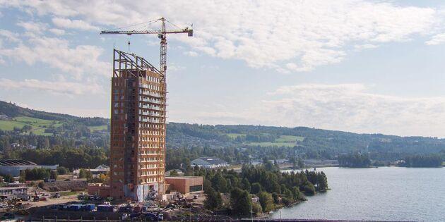 Världens högsta träbyggnad invigd i Norge