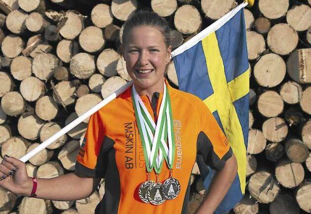 Linn Arvidsson är bäst i världen på motorsåg.