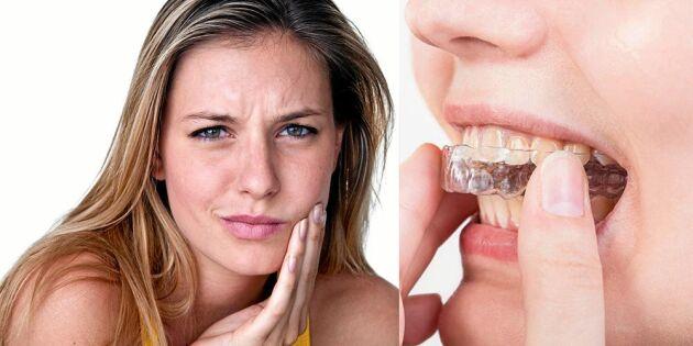 Så slipper du gisslet med gnisslet – sluta pressa tänder!