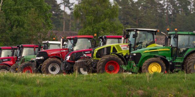 Färre lastbilar men fler traktorer
