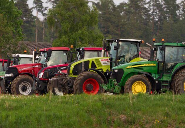 Traktorer var en av de fordonsgrupperna som ökade mest under årets tre första månader.